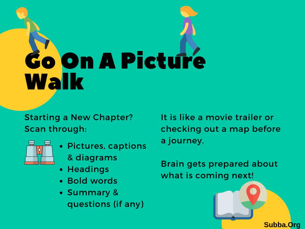 Picture Walk Concept (Barbara Oakley)